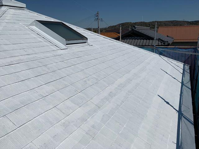 瑞浪市 屋根下塗り塗装2回目