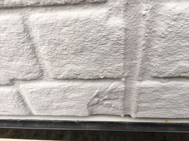 外壁面の欠損があります