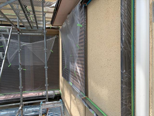瑞浪市 外壁塗装 養生完了